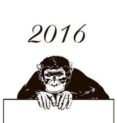 cute cartoon monkey silhouette vector image