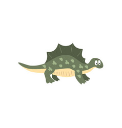 cute cartoon stegosaurus dinosaur prehistoric vector image