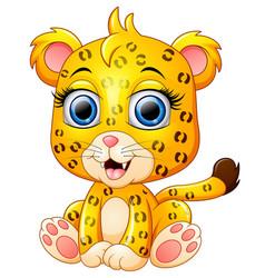 cute cheetah cartoon vector image