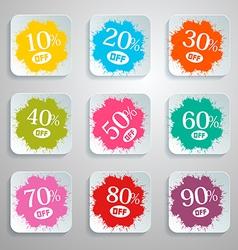 Discount Splash - Paper Labels Set vector image