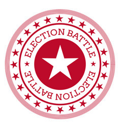 Election battle stamp isolated on white vector