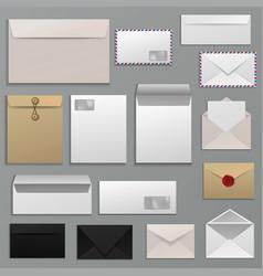 Envelope blank letter on paper mailing vector