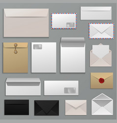 Envelope blank of letter on paper mailing vector