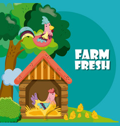 Farm fresh cartoons vector