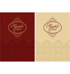 filigree cover design vector image