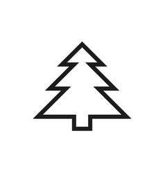Fir-tree icon on white background vector