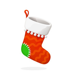 flat christmas sock for gifts vector image