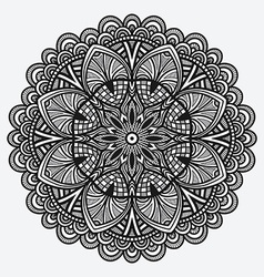 floral ornament circular monochrome pattern vector image