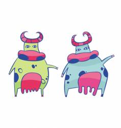Funky cows vector