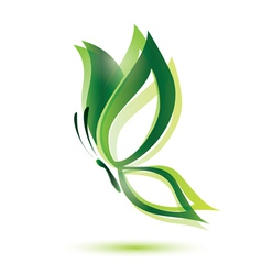Green butterfly ecology concept isolated symbol vector