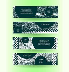 Grunge style horizontal layout banner set vector