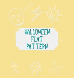 Halloween festive pattern endless background vector