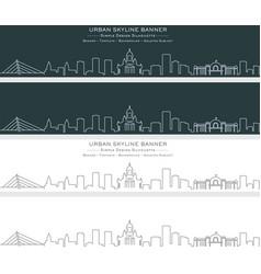 Helsinki single line skyline banner vector