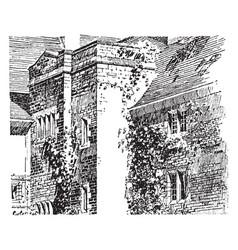 house side vintage vector image