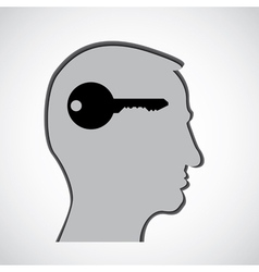 Human head thoughts vector