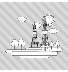 Industry tower design vector