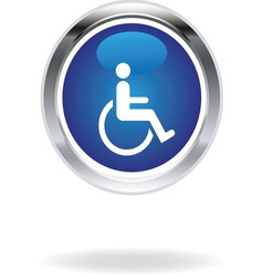 Invalid blue icon vector