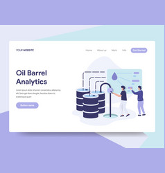 landing page template of oil barrel price vector image