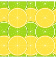 Lemon and Lime Seamless Pattern vector