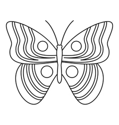 Light butterfly icon outline style vector