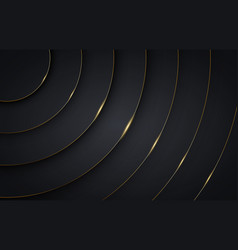 Luxury dark black and gold premium background vector