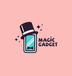 magic gadget logo vector image
