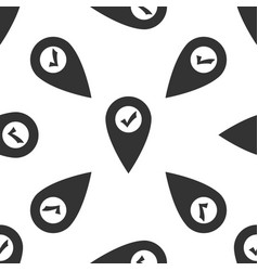 map pointer with check mark icon seamless pattern vector image