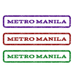 Metro manila watermark stamp vector