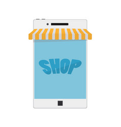 mobile phone internet online shopping and vector image