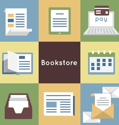 Mobile Service Online Bookstore vector