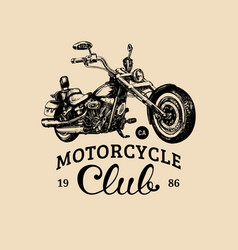 motorcycle club advertising poster hand vector image