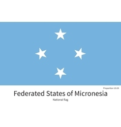 National flag of Micronesia with correct vector