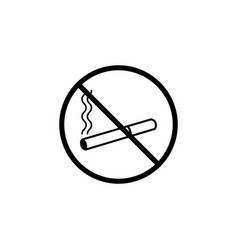 No smoking line icon prohibition sign forbidden vector