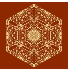 Ornamental Arabian Print on Red Background vector