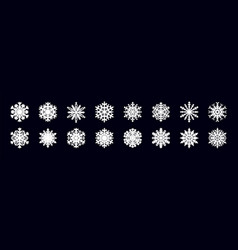 Paper cut snowflakes realistic christmas ice vector