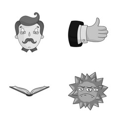 Profession education and other monochrome icon in vector