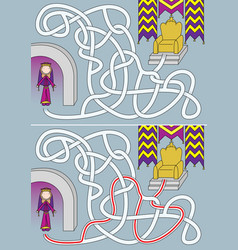 queen maze vector image