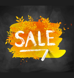 sale word chalked lettering vector image