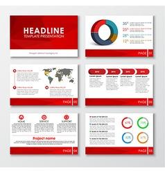 Set web presentation slides vector