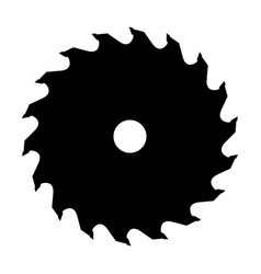 silhouette of saw blade vector image
