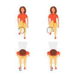 Sport exercises for office vector