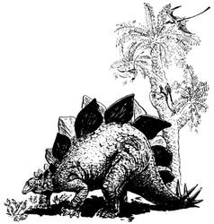 Stegosaurus vector