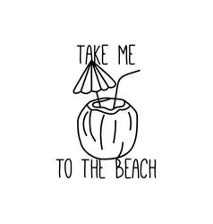 summer beach t shirt design vector image