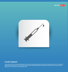 syringe injection icons - blue sticker button vector image