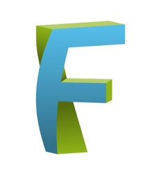 Twisted Letter F Logo Icon Design Template Element vector