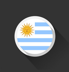 uruguay national flag on dark background vector image