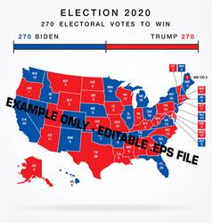 usa editable 2020 electorial college map vector image