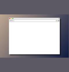 White blank browser window vector