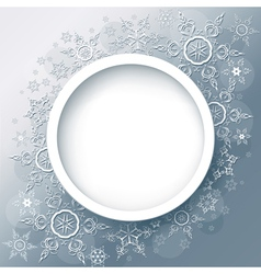 Winter background abstract with snowflakes vector image
