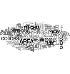 Wool area rugs text word cloud concept vector